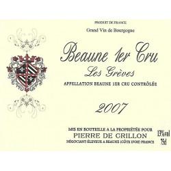 """2007 BEAUNE 1er Cru """"Les Grèves"""" Pierre de CRILLON"""