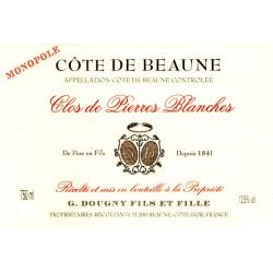 """2014 Côte de Beaune Villages """"Clos de Pierres Blanches"""" Monopole 75 cl Domaine Gérard DOUGNY"""